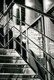 Reflected Way. Sometimes reflection seems more real than your reality. Black and white, reflection, stairs, dreams, urban, architecture Stock Photos