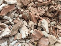 Amount of debris colected after ome construction in - Background stock photo