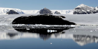 Reflecting Antarctica. Reflecting mountain landscape in Antarctica Stock Photos