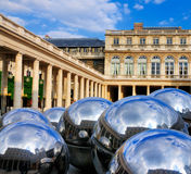 Reflecting Balls of Palais Royale Royalty Free Stock Images