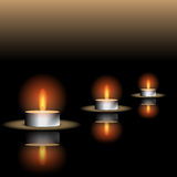 Reflecting Candle Illustration Stock Photos