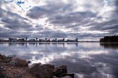 Reflecting city landscape royalty free stock photography