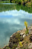 Reflecting Clouds. In lake in anatolia turkey stock images