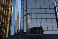 Reflecting on Construction Royalty Free Stock Photography
