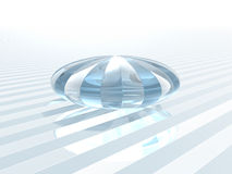 Reflecting crystal glass object Royalty Free Stock Image