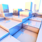 Reflecting cubes background Stock Images