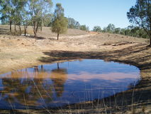 Reflecting on Drought. Most of Australia is currently in drought and even the cities are now subject to level 5 water restrictions, meaning they have to let Stock Photography