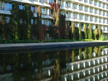 Reflecting hotel building Stock Images