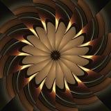 Reflecting kaleidoscope pinwheel Royalty Free Stock Photography