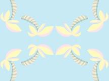 Reflecting Palm Tree Pattern Royalty Free Stock Photos