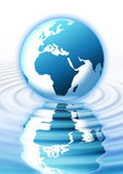 A Reflecting Planet Earth Royalty Free Stock Photos