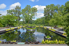 Reflecting pond. Montreal botanical garden reflecting pond Stock Image