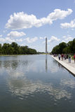 Reflecting Pond and Washington Monument Royalty Free Stock Images
