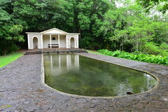 Reflecting pool in the Diana Room of Allerton Garden Royalty Free Stock Photo