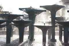 Reflecting Pool Fountain Creates outdoor Royalty Free Stock Images