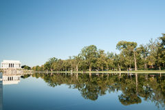 Reflecting Pool and Lincoln Memorial. Royalty Free Stock Photography