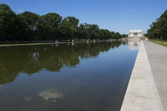 Reflecting pool and lincoln memorial Royalty Free Stock Photos