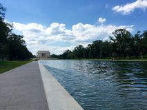 Reflecting pool and Lincoln monument Royalty Free Stock Image