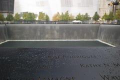 Reflecting pool at National September 11 Memorial royalty free stock images
