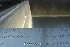 Reflecting pool at National September 11 Memorial royalty free stock photo