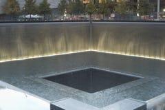 Reflecting pool at National September 11 Memorial royalty free stock image