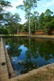 Reflecting pool in Phimeanakas, Angkor, Cambodia Stock Photography