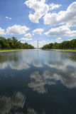 Reflecting pool and Washington monument Stock Photo