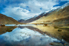 Reflecting pools in Nubra Valley India Royalty Free Stock Photography