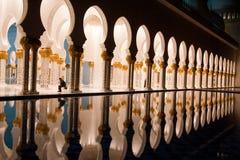Reflecting pools outside the Sheikh Zayed mosque in Abu Dhabi, United Arab Emirates Stock Image