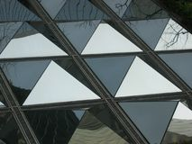 Reflecting Pyramids. Metallic pyramids Stock Photos