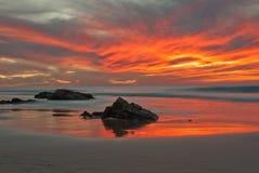 Reflecting seas. Coastline of the north west coast El Cotillo, Fuerteventura, Canary-islands, Spain Royalty Free Stock Photography