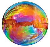 Reflecting soap bubble. Stock Image