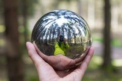 Reflecting sphere photographer selfie Stock Photography