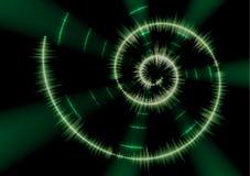 Spiral music waveform Royalty Free Stock Photo