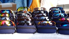 Reflecting Sunglasses for Sale Royalty Free Stock Image