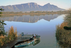 Reflecting on Table Mountain Royalty Free Stock Photos