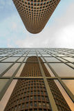 Reflecting to a building Reviews another building Royalty Free Stock Images