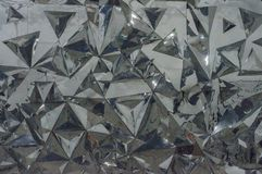 Reflecting wall of mirrors. Reflecting wall or triangles mirrors Royalty Free Stock Images
