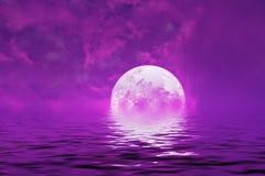 Reflectio rosa porpora del pianeta straniero sconosciuto delle stelle dello spazio del paesaggio fotografia stock