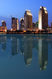 Reflectio, San Diego Van de binnenstad Royalty-vrije Stock Foto