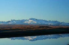 Reflection. Of a mountain New Zealand south island royalty free stock image