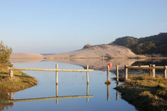 Reflection. River mouth at Kasouga Eastern Cape, South Africa Stock Photos
