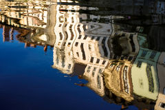 Reflection. Colourful reflection of a city in a water Royalty Free Stock Image