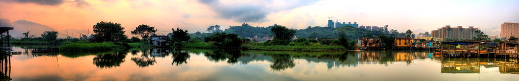 Reflection. A nice place at the country side of Hong Kong called (Nam Sang Wai Stock Images