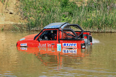 Reflection. SUVs race held in Greece in May 2010 - Evros Trophy 2010 Stock Photos