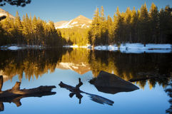 Reflection. Of a mountain in a lake Stock Photography