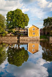 Reflection. A photo of a reflection on a house near Arboga river, Sweden Stock Photography