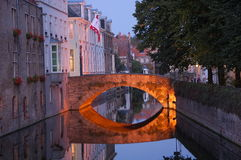 Reflection. Of the bridge, Brugge, Belgium Royalty Free Stock Images