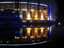 Reflection. QuanzhCheng square, Jinan, China Royalty Free Stock Images
