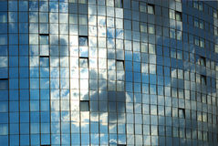 Reflection. Of the sky on a facade of a modern building Royalty Free Stock Image